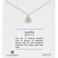 Women's Dogeared 'Definitions Defined - Zenify' Buddha Pendant Necklace