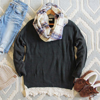 The Boyfriend Lace Sweater in Sage