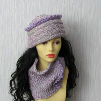 Womens Hat  Designer Hat, Crochet Beanie Chunky Knit Hat, Gift for Her, Womens Fashion,  Unique Hat  Ooak