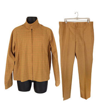 Vintage Sears Mens Store Pant Suit 60s Clothing 60s Jacket 1960s Suit Men Suit 50s Suit 50s Clothing 60s Clothes Mustard Gold Retro Clothing