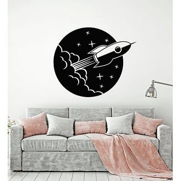 Vinyl Wall Decal Space Star Astronaut Rocket Ship Portholes Stickers Mural (g1123)