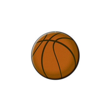 Basketball Sporting Goods Sportsball Lapel Hat Pin Tie Tack Small Round