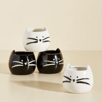 Cat's the Way I Like It Shot Glass Set | Mod Retro Vintage Kitchen | ModCloth.com