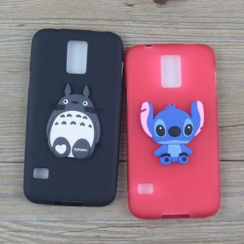 Cute Cartoon Silicone Case for Samsung Galaxy S5 S5mini Cases Stitch Hello Kitty Minnie Cat Soft TPU Phone Cover