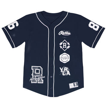 HOMEPLATE - BASEBALL JERSEY - NAVY