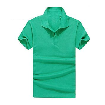 Hot Selling Solid Polo Shirt T-shirt
