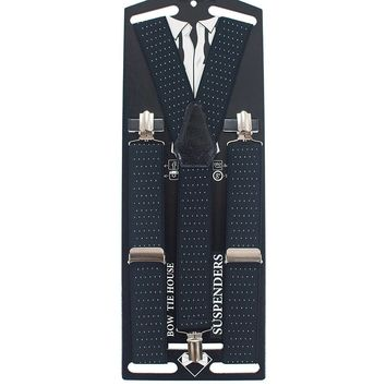 Polka Dots Black Suspenders