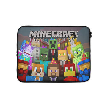 """Minecraft Creeper Party #64 iPad Mini Air Pro 8""""/ 10"""" Tablet Sleeve Case Cover"""