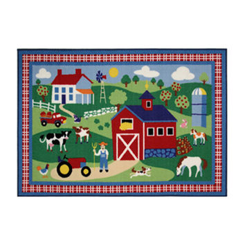 "Fun Rugs Olive Kids Country Farm Home Decorative Accent Area Rug 19""""X29"""""