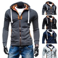 New Trendy Design Zip Up Hoodie Mens Fashion Jacket