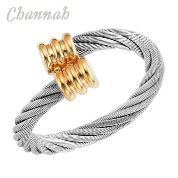 Channah 2017 Women 2-Tone Silver Gold Magnetic Copper Made Resizable Ring Female Magnet Ladies Jewelry Finger Wear Charm