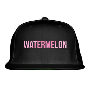 Watermelon Beyonce Embroidered Snapback Hat
