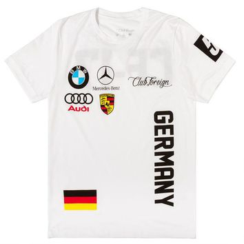 ONETOW Club Foreign T-Shirt Germany Series in White