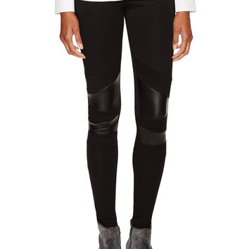 Maje Women's Contrast Mix Legging - Black -