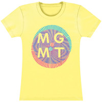 MGMT  Girl's Op-Art Girls Jr Soft tee Yellow Rockabilia
