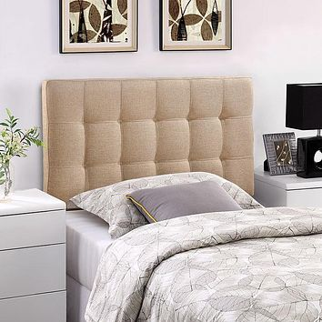 Upholstered Tufted, Padded Textured Fabric or Vinyl Headboards