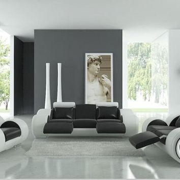 Luxury living room sofa furniture with recliner ,modern leather sofa