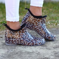 Stormy Rain Booties in Cheetah