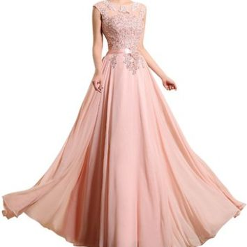 LOVEBEAUTY® Women's Chiffon Long Evening Dress Prom Dress