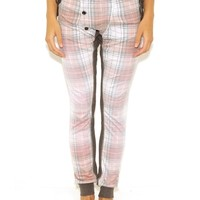 Wildfox Sun Bleached Plaid Comfy Lounge Pants in Multi Colored | Boutique To You