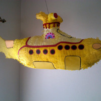 The Beatles yellow submarine pinata