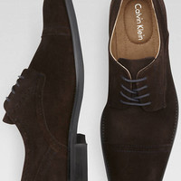 Calvin Klein Hancock Brown Oxford Shoes - null | Men's Wearhouse