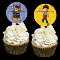 "Instant Download PAW PATROL Cupcake Topper Rounds 2"" - High Resolution Colorful Crisp 6x designs DiY"