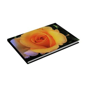 Plain Yellow Rose Guest Book