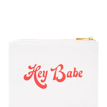 Hey Babe Graphic Makeup Pouch | Forever 21 - 1000176184