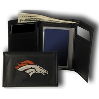 Rico Denver Broncos Embroidered Tri Fold Wallet