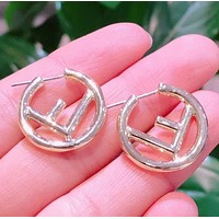 Fendi Fashion New Letter Round Earring Women Accessories