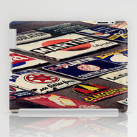 Vintage French Signs iPad Case by Around the Island (Robin Epstein)