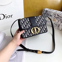 Dior Women Leather Shoulder Bag Shopping Satchel Tote Bag Handbag