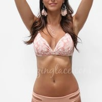 New Destination Light Brown Low Rise Bikini Bottom