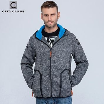 CITY CLASS 2016 Autumn Winter Men's Hoodies of Brand Clothing Harajuku HipHop Sweatshirts for Male Outerwear Waterproof zip 2766
