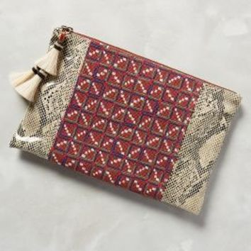 Penelope Chilvers Snakeside Clutch in Red Size: One Size Clutches