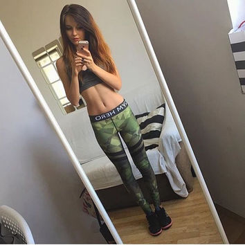 Winter Casual Stylish Gym Camouflage Leggings [9328127812]
