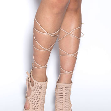 Such Perf-ection Lace-Up Heels GoJane.com