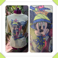 Vintage Diseny Mickey Mouse on Safari Oversized by Thriftoria
