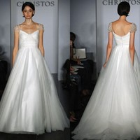 CHRISTOS Julianna dress inspiration | atelierTAMI - Wedding on ArtFire