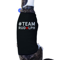 #Team Rudolph Pet T-shirt Cute Christmas Gifts For Small Dog