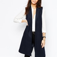 New Look Sleeveless Coat