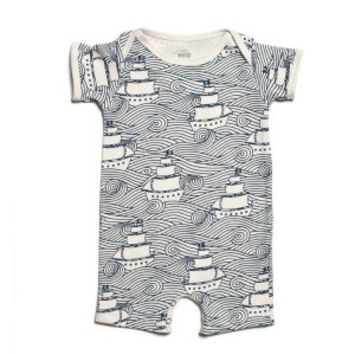 Organic Cotton Summer Romper High Seas Print