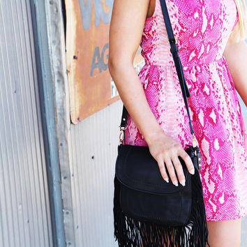 Urban Originals Fringe Handbag {Black}