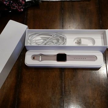 Apple Watch Series 1 38mm Aluminum Case Pink Sand Sport Band - (MNNH2LL/A)