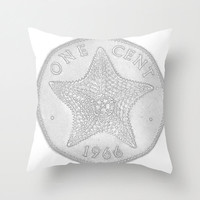 Bahamas Penny, Bahamas Decor, Penny Pillow, Hibiscus, Starfish Pillow Cover