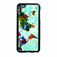 Abstract World Map six  iPod Touch 5 Case