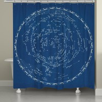 Stars and Constellations Chart Shower Curtain