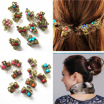 New Retro Vintage Butterfly/ Peacock/ Heart Shape Rhineston Hairpins/ Hair Claw hair Clips Hair Accessories