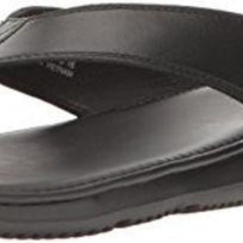 DCCK8BW Cole Haan Men's Bristol Sandal Flip-Flop Black Leather 10 Medium US